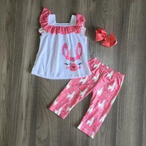 Boutique Llama Girls Tunic Leggings Outfit Set